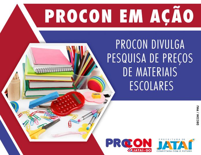 d6eeaad2f Procon divulga pesquisa de preços de materiais escolares para ...