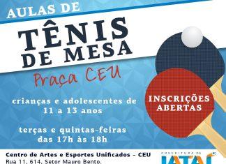 63a71aef6 Prefeitura abre inscrições para aulas de tênis de mesa no Centro.