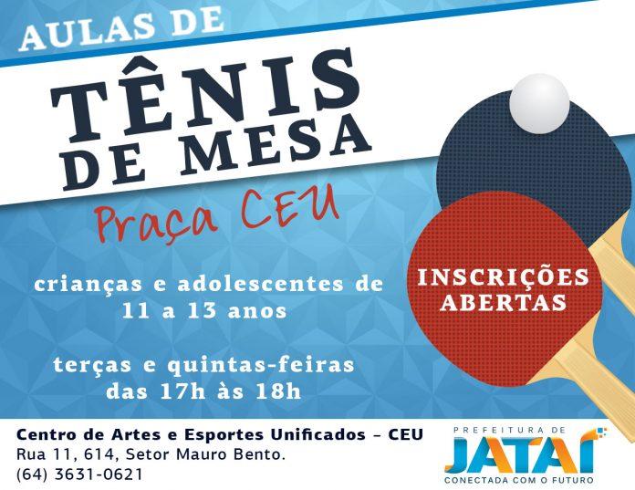 e07c84eba9 Prefeitura abre inscrições para aulas de tênis de mesa no Centro de ...