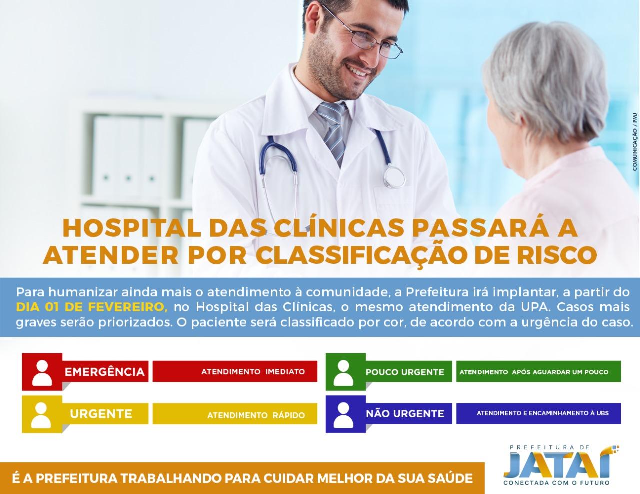 Hospital Das Cl Nicas Passar A Atender Por Classifica O De Risco E