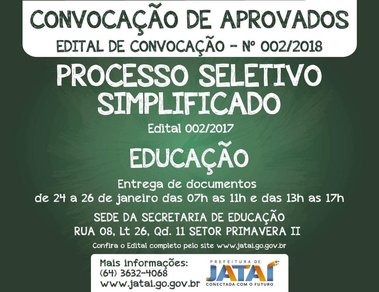 Prefeitura Municipal convoca mais profissionais para a Educação ... beca05bf51fc6