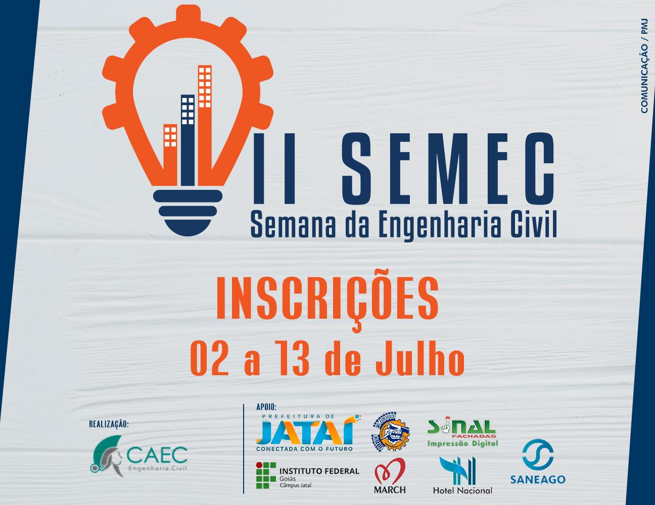 EDUCAÇÃO   Inscrições abertas para a II Semana da Engenharia Civil ... 961cb279ef