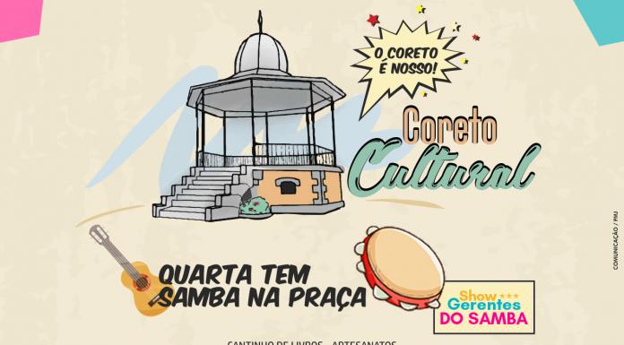 695bacd99c Projeto Coreto Cultural recebe show do grupo Gerentes do Samba nesta  quarta-feira