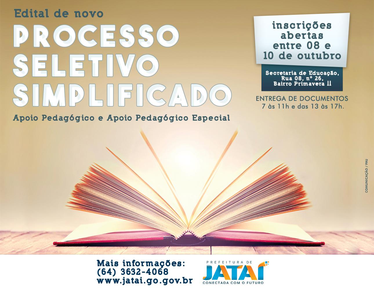 9ed3647550 Prefeitura publica edital de novo Processo Seletivo Simplificado com ...