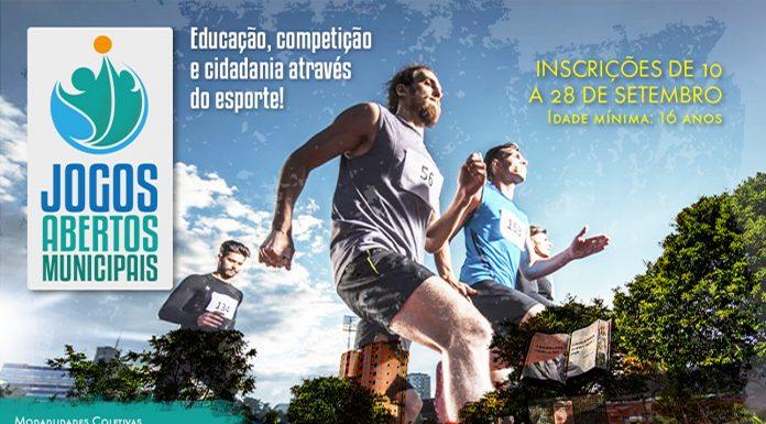 9797a29592 Inscrições para os Jogos Abertos Municipais terão início na próxima  segunda-feira