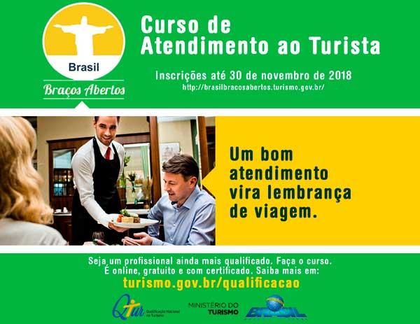TURISMO   Ministério do Turismo oferece Curso de Atendimento ao ... 55d6e0e8af