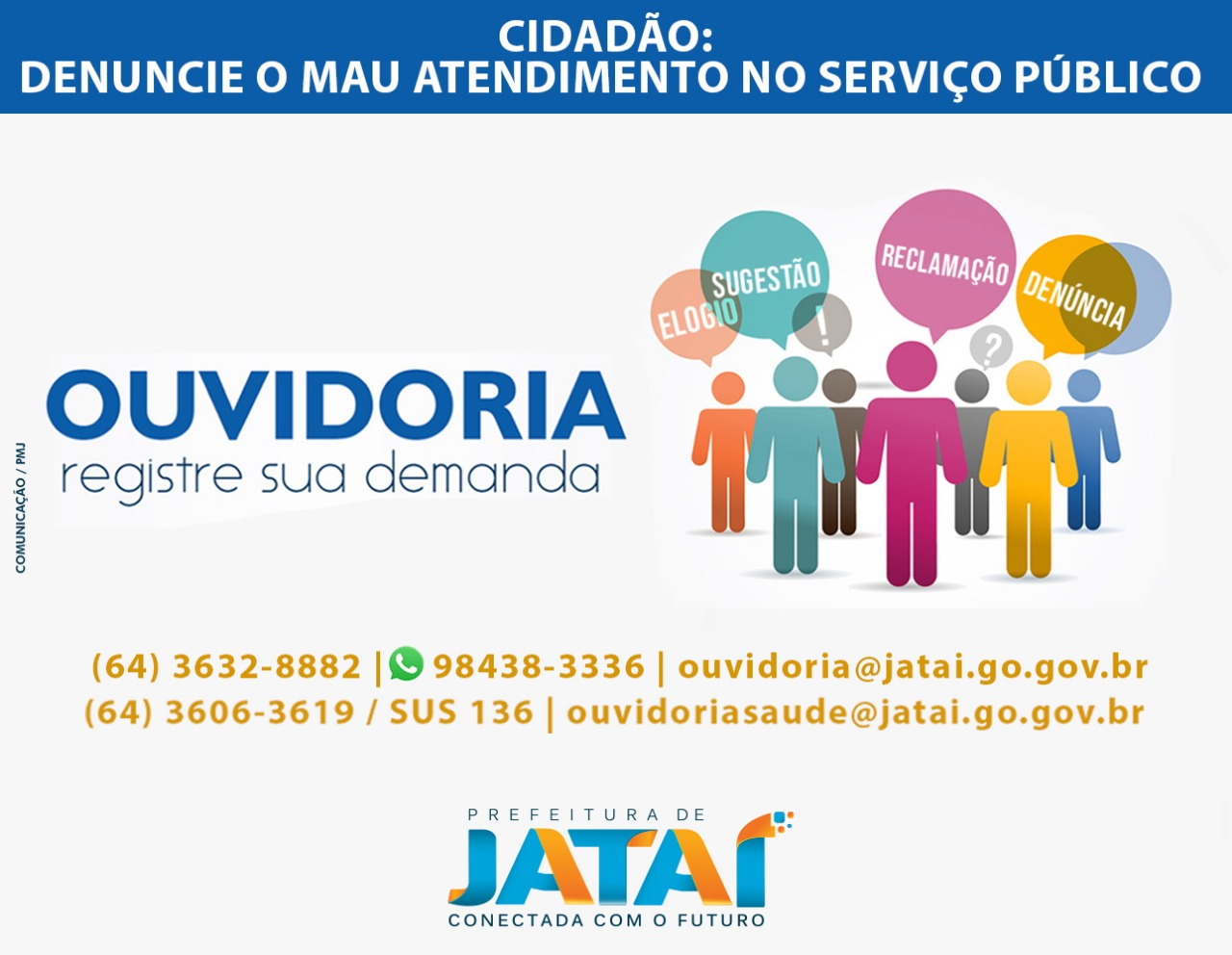 A Ouvidoria-Geral do Município, implementada de forma efetiva na gestão do  prefeito Vinícius Luz, realiza atividades no âmbito do controle social dos  ... 0e894f5785