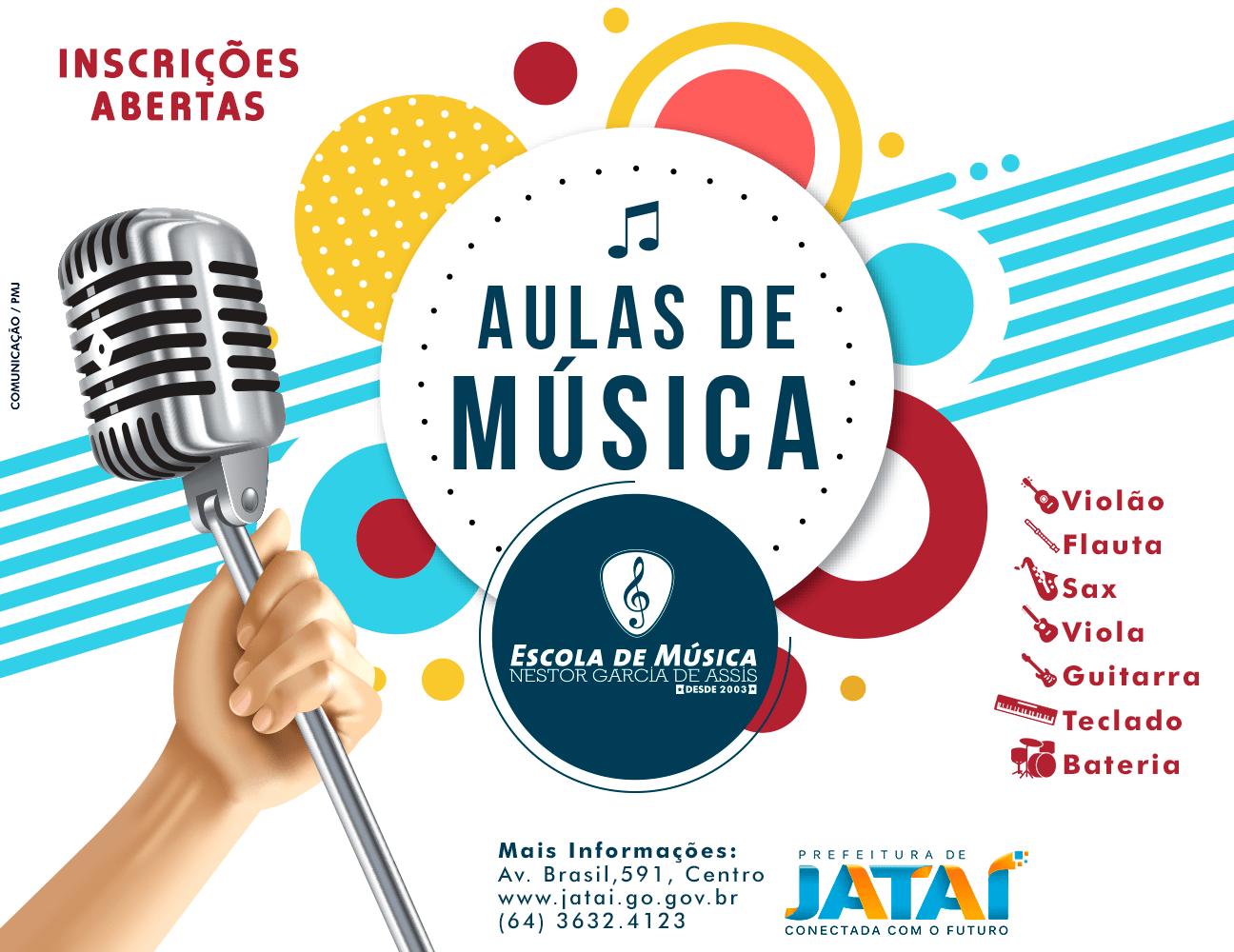 Prefeitura abre inscrições para aulas de música na Escola Municipal ... 6d5720316a8