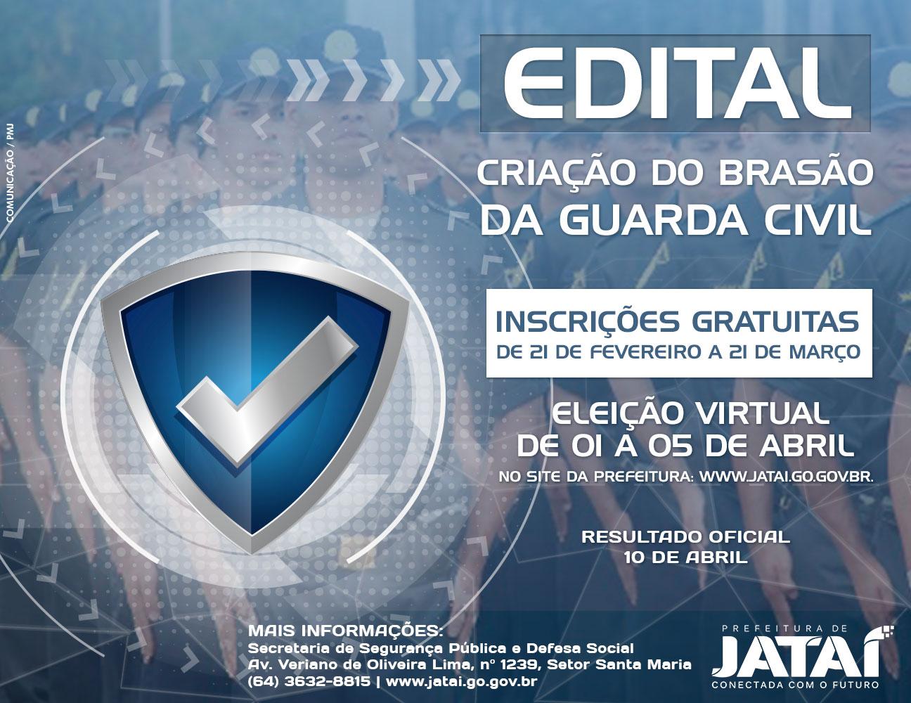 492d481c8 GUARDA CIVIL | Criação do brasão pela comunidade | Prefeitura de Jataí